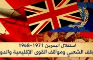 Bahrain's independence 1968-1971 and the popular stance and the stance of regional and international powers